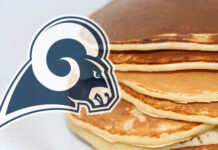 The L.A. Rams For A Pancake Breakfast , Sports Giveaways and A Ride